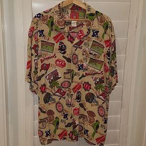 Tampa Bay Buccaneers NFL Hawaiian Shirt Sz L